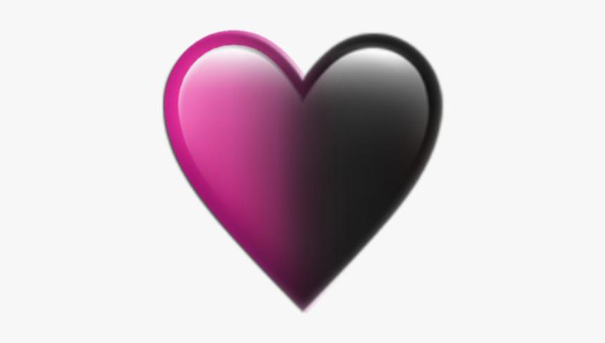 Pink Black Blackpink Followme Heart Emoji Iphone Black And Pink Heart Emoji Hd Png Download Transparent Png Image Pngitem