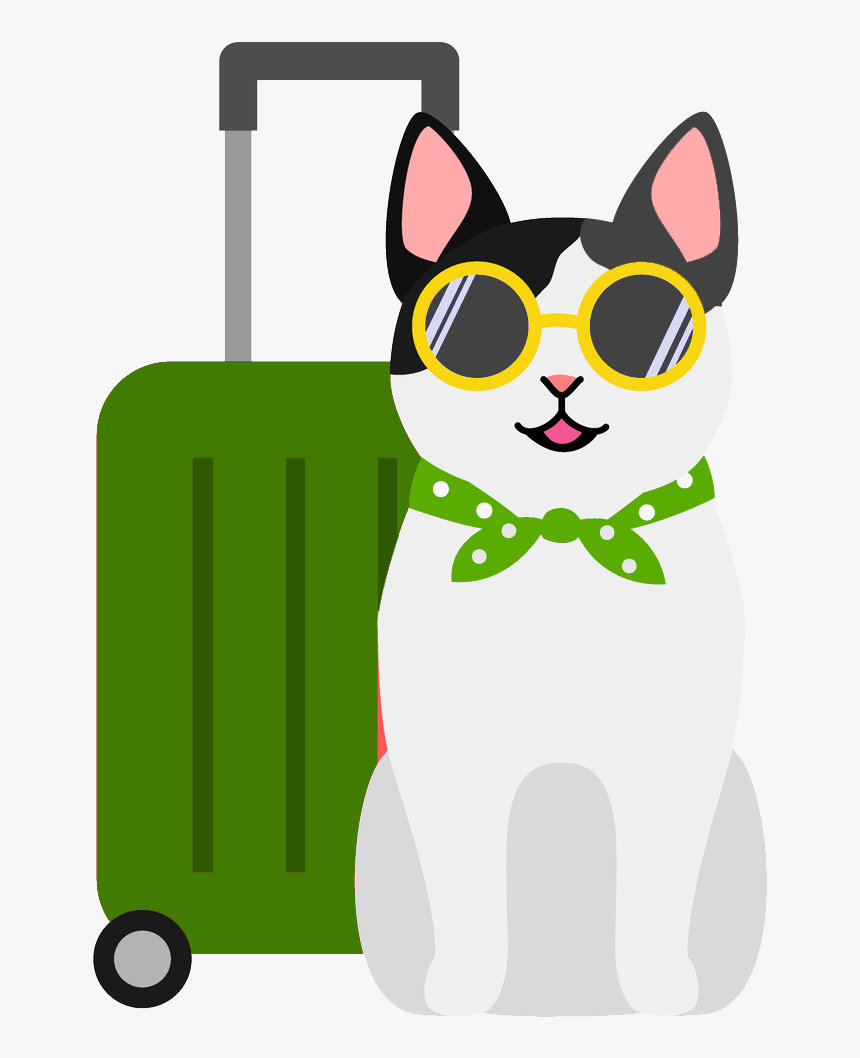 Holiday Cat Icon Cartoon Dogs On Holiday Hd Png Download