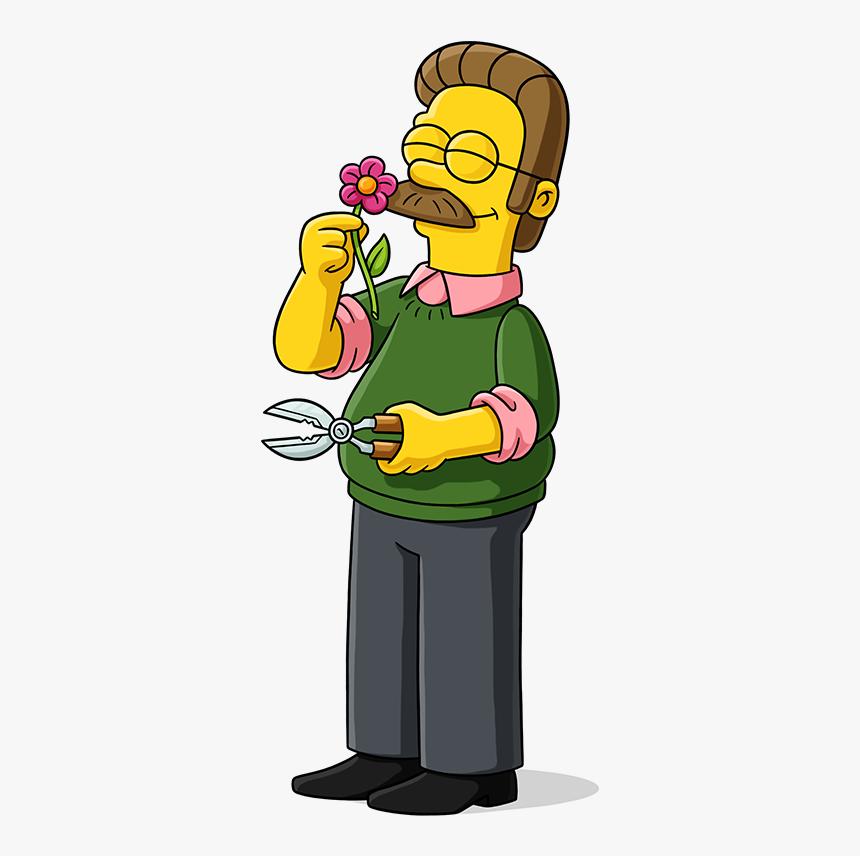 Ned Flanders Simpsons World, HD Png Download , Transparent Png Image -  PNGitem