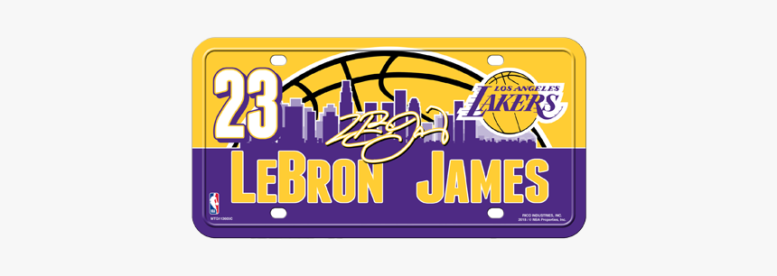Los Angeles Lakers Lebron James License Plate Hd Png