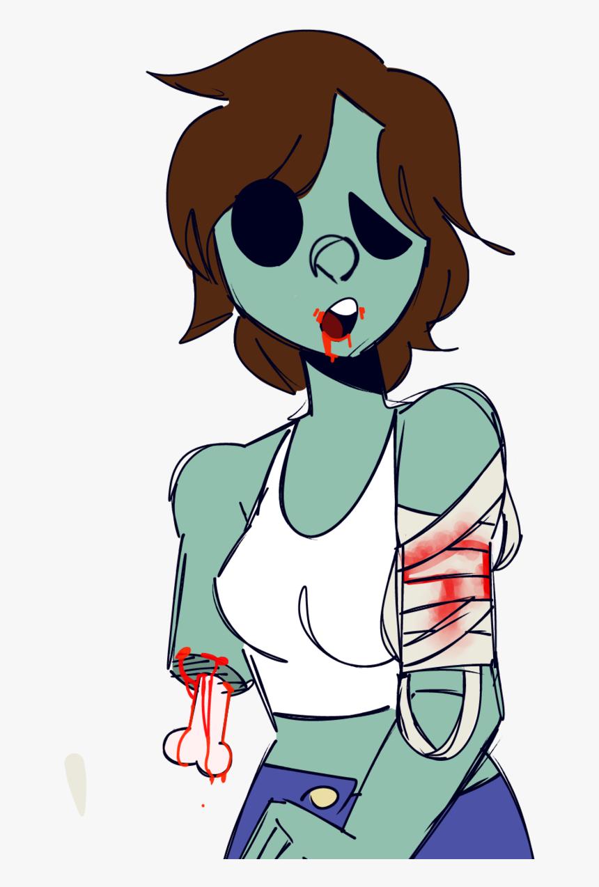 Girl Zombie Cartoon Hd Png Download Transparent Png Image Pngitem