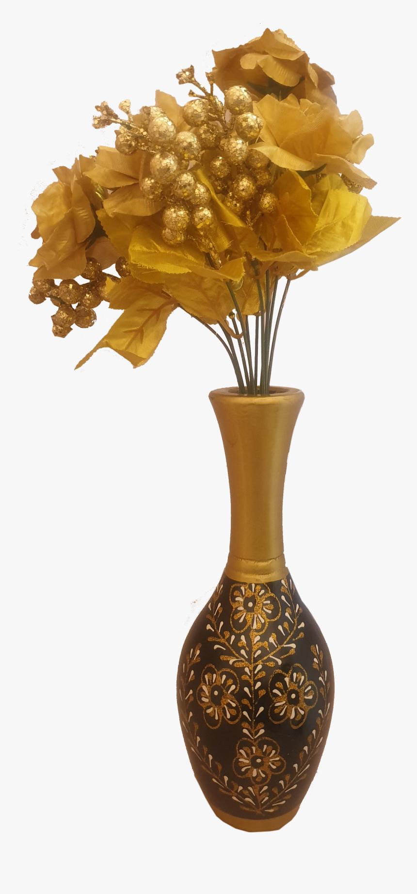 Golden Flower Vase Png Transparent Png Transparent Png Image Pngitem