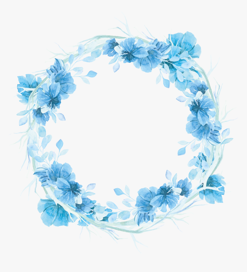 Floral Frame Watercolor Background Floral Watercolor