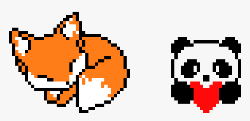 Pixel Art Kawaii Panda Hd Png Download Transparent Png