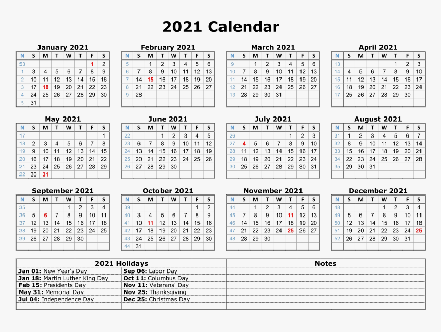 Calendar 2021 Png Photo - Free Printable 2021 Calendar ...