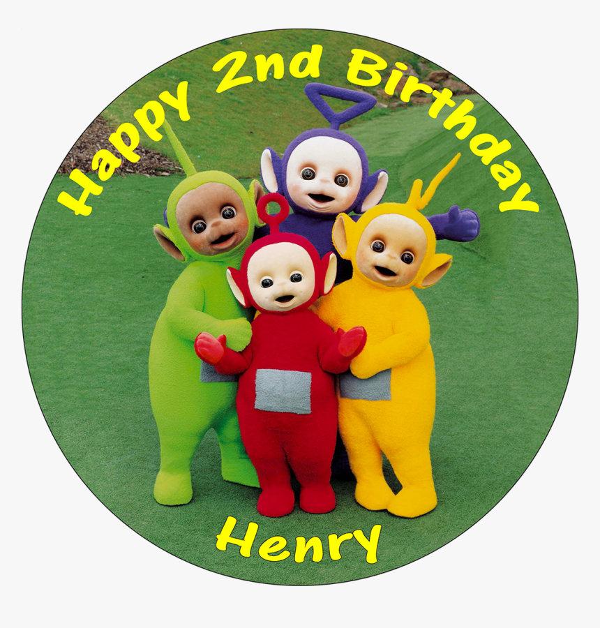 Astonishing Teletubbies Edible Personalised Round Birthday Cake 2Nd Birthday Cards Printable Nowaargucafe Filternl