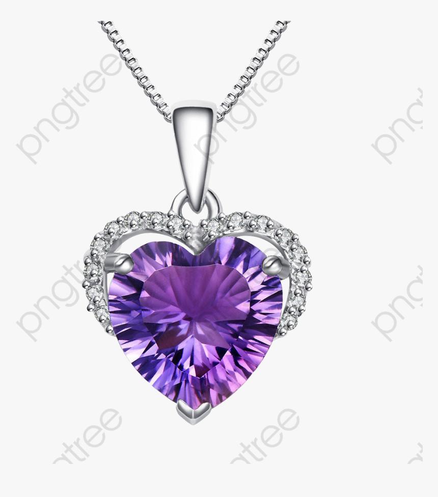 collier diamant violet