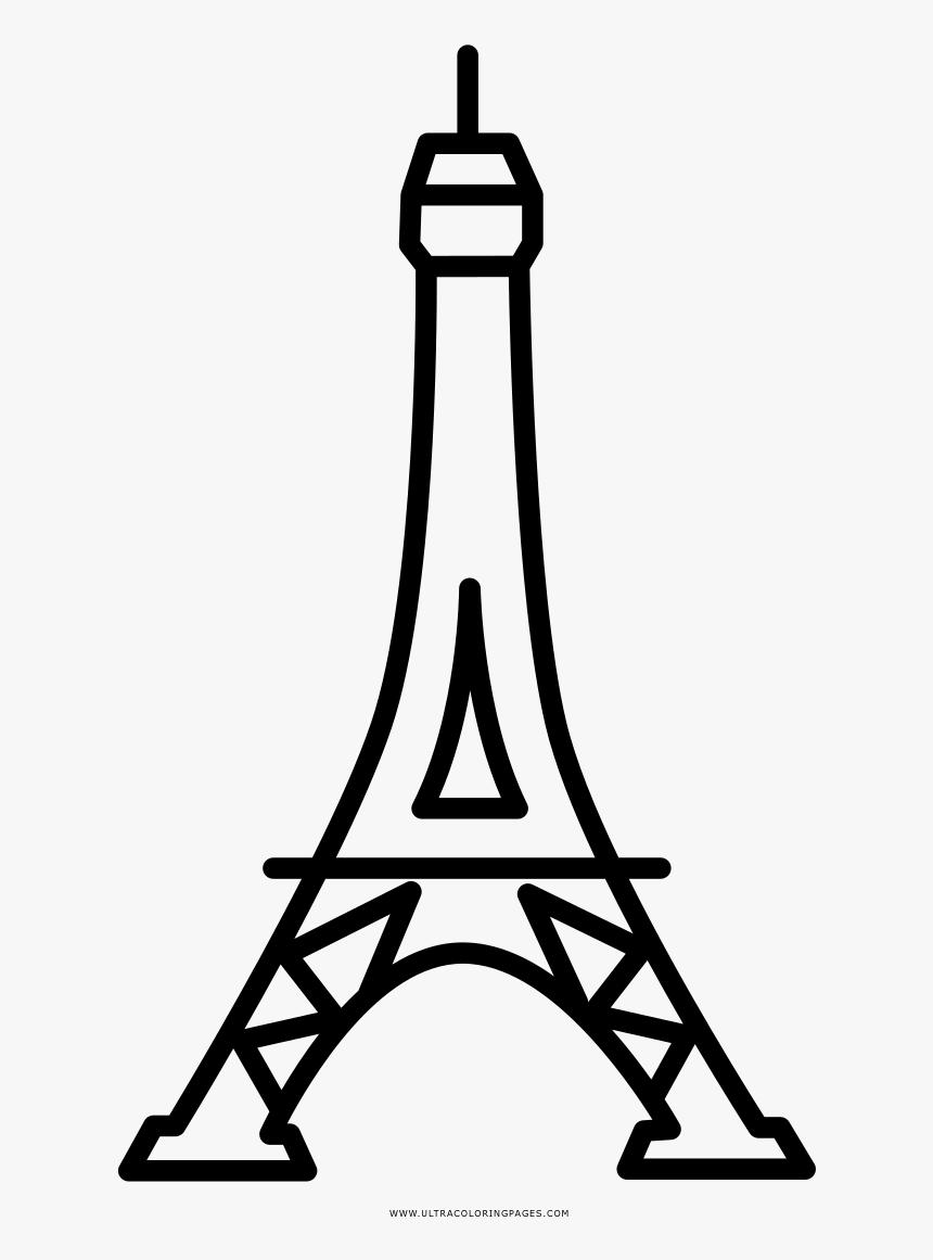 Эйфелева башня картинка раскраска