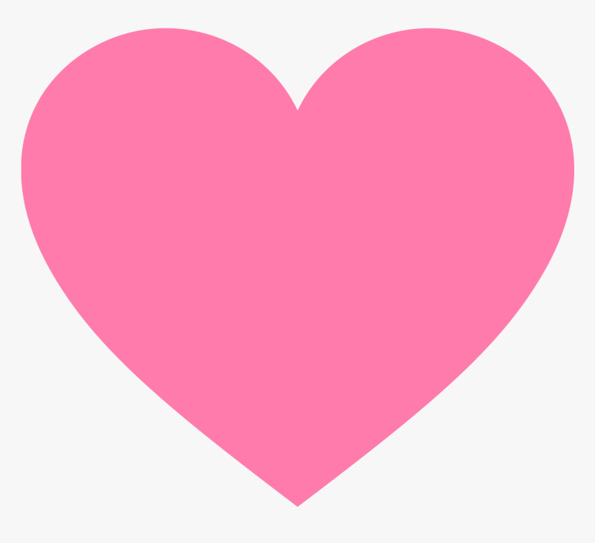Pink Heart No Background - Valentines Day Hearts Clipart, HD Png ...