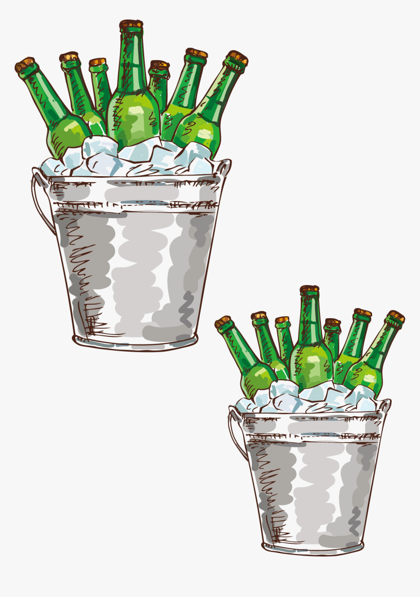 Transparent Beer Bottle Clip Art Beer Bucket Clip Art Hd Png