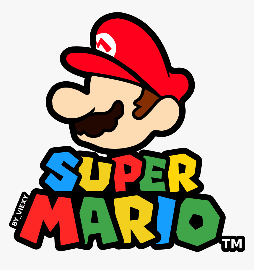 Super Mario Logo Png Logo De Mario Bros Transparent Png
