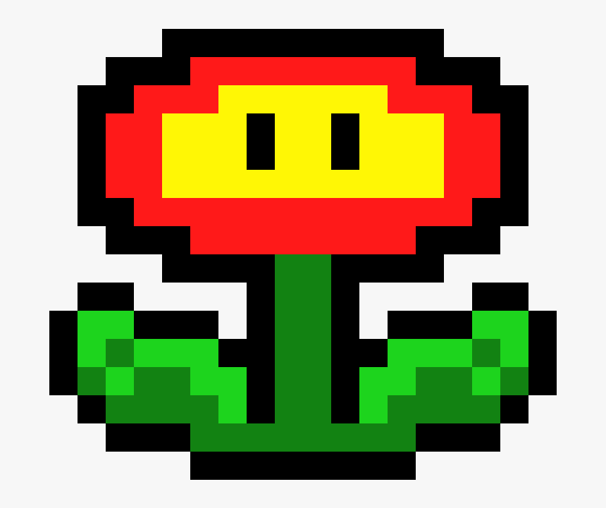 Super Mario Bros Mario Fire Flower Pixel Art Hd Png Download