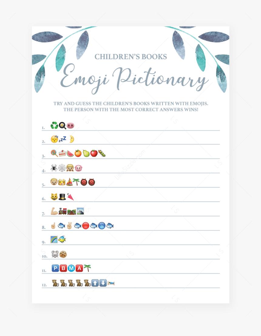 Leaf Baby Shower Emoji Pictionary Game Printable By - Emoji Baby Shower  Game, HD Png Download , Transparent Png Image - PNGitem