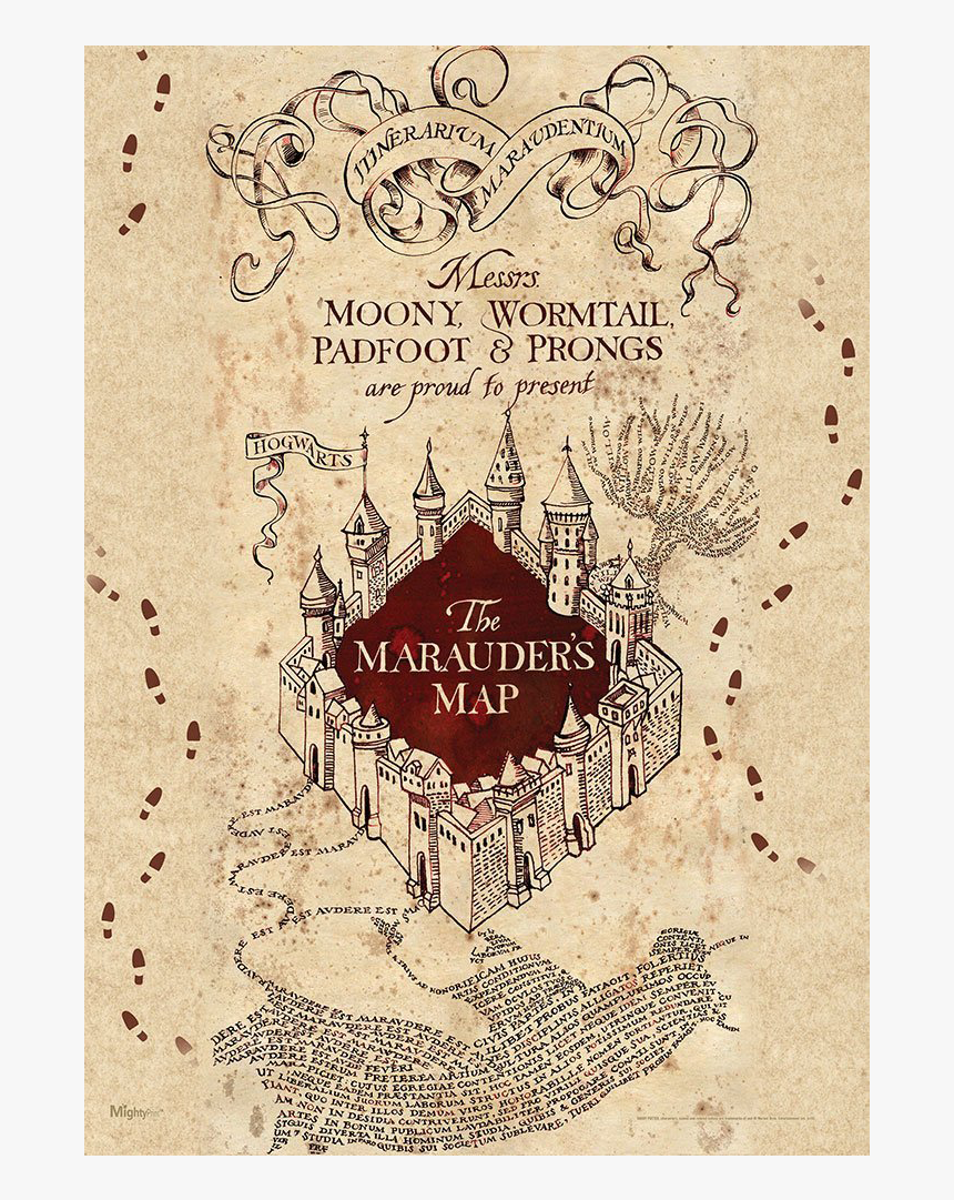 It's just a picture of Harry Potter Marauders Map Printable for middle