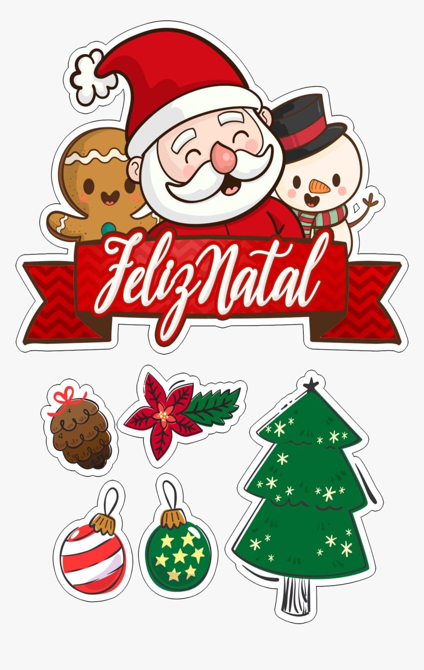 Topo De Bolo Natal Para Imprimir Hd Png Download