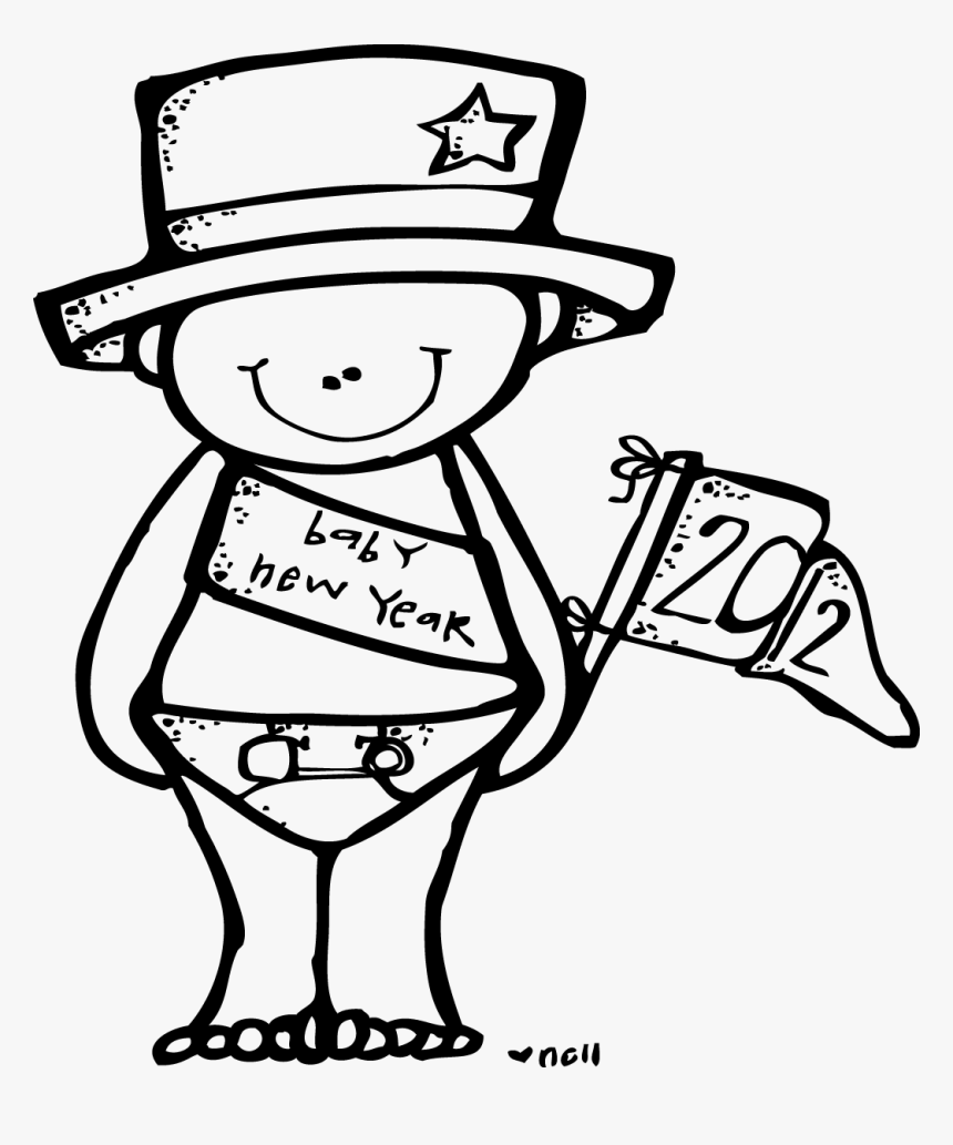 Melonheadz Baby New Years Clip Art Black And White Hd Png Download Transparent Png Image Pngitem
