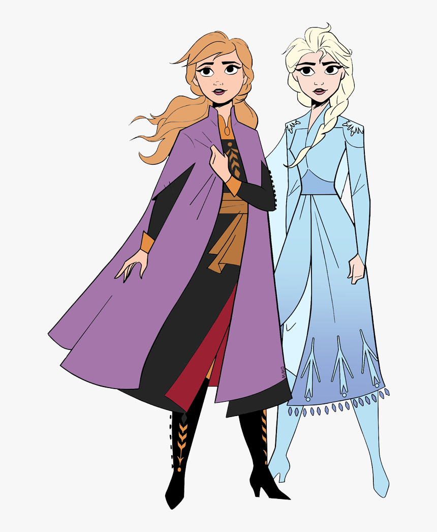 Frozen 2 Coloring Pages Elsa And Anna Hd Png Download