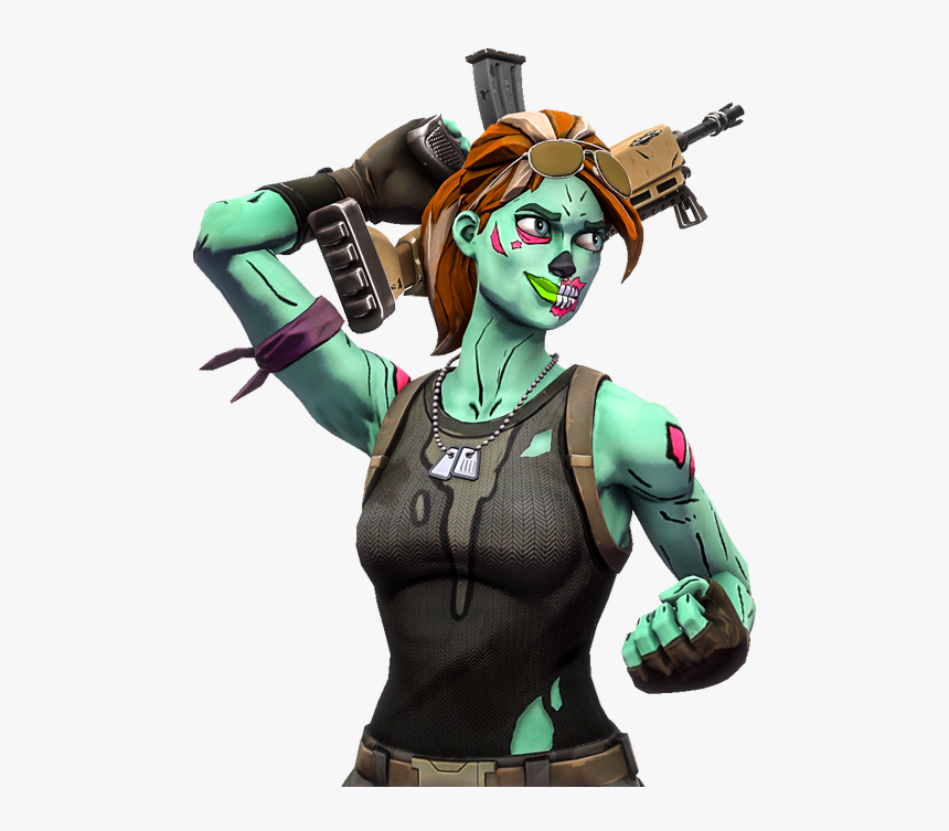 Fortnite Skin Zombie Girl Hd Png Download Transparent Png Image Pngitem