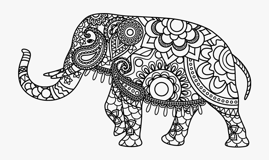 Free Free Printable Coloring Page Of Elephant, Download Free Clip ... | 512x860