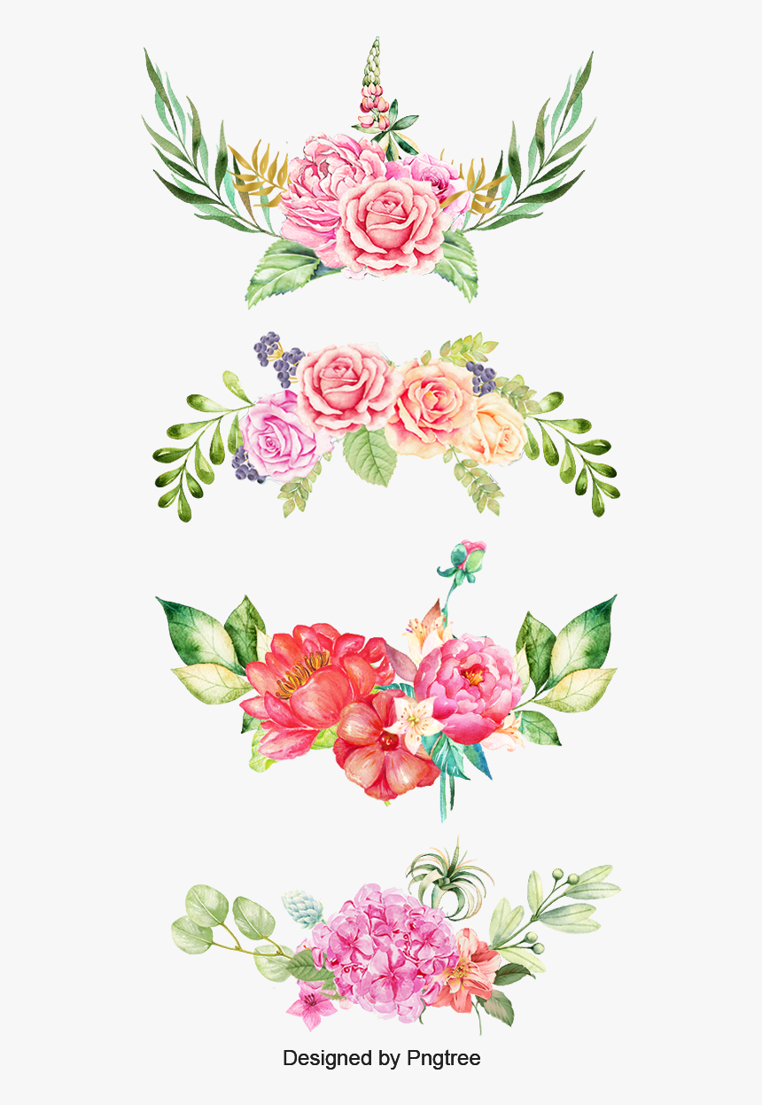 Watercolor Clipart The Bottom Floral Watercolor Clip Art Hd Png