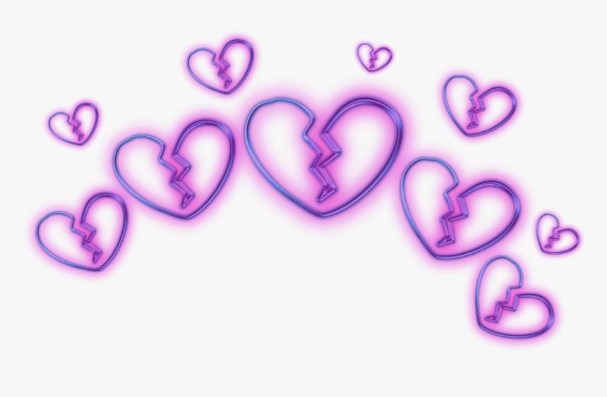 505 5059916 broken heart emoji crown circle glitter glitch purple