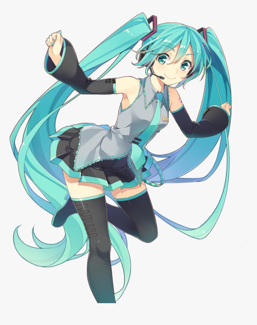 Hatsunemiku Mikuhatsune Miku Vocaloid01 Vocaloid Blue Hair Female Anime Characters Hd Png Download Transparent Png Image Pngitem