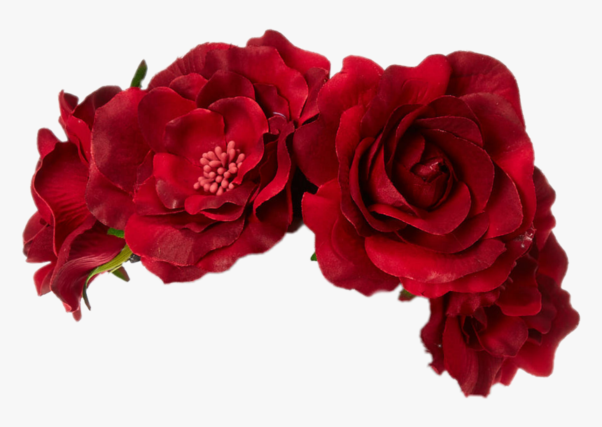 Redroses Flowercrown Red Flower Crown Png Transparent Png