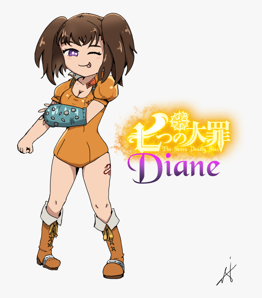 Ban Drawing Diane Nanatsu No Taizai Diane Chibi Hd Png Download