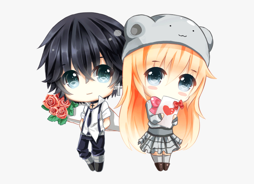 Anime Chibi Couple Gif Hd Png Download Transparent Png Image Pngitem