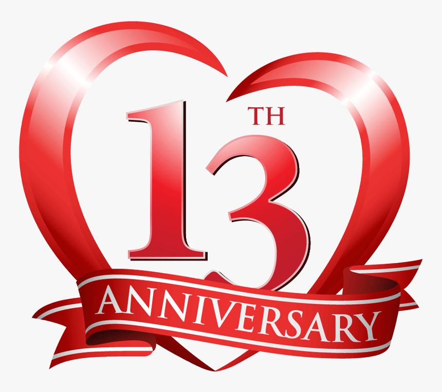 13th Anniversary Clip Art Hd Png Download Transparent Png Image Pngitem