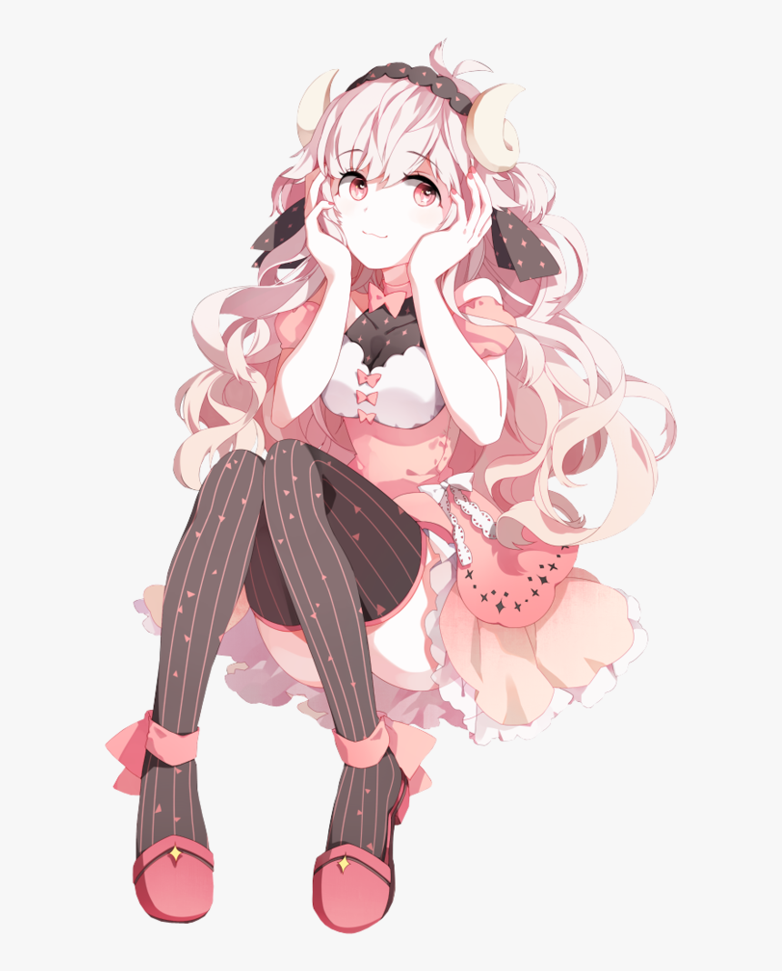 Anime Boy Pink Hair Curly Haired Anime Girl Hd Png Download Transparent Png Image Pngitem