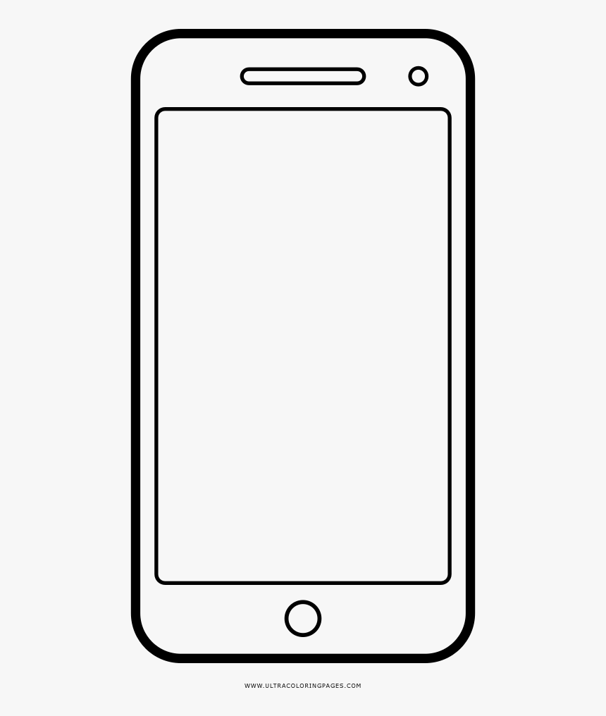 Smartphone Coloring Page - Mobile Phone, HD Png Download ...