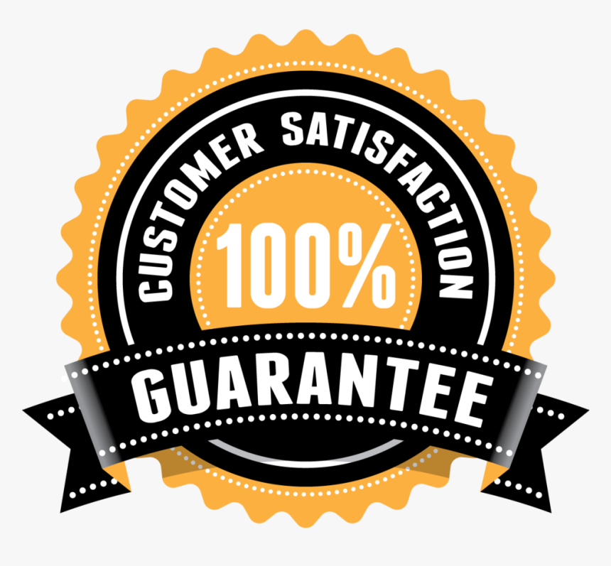 100 Customer Satisfaction Guaranteed, HD Png Download , Transparent Png  Image - PNGitem