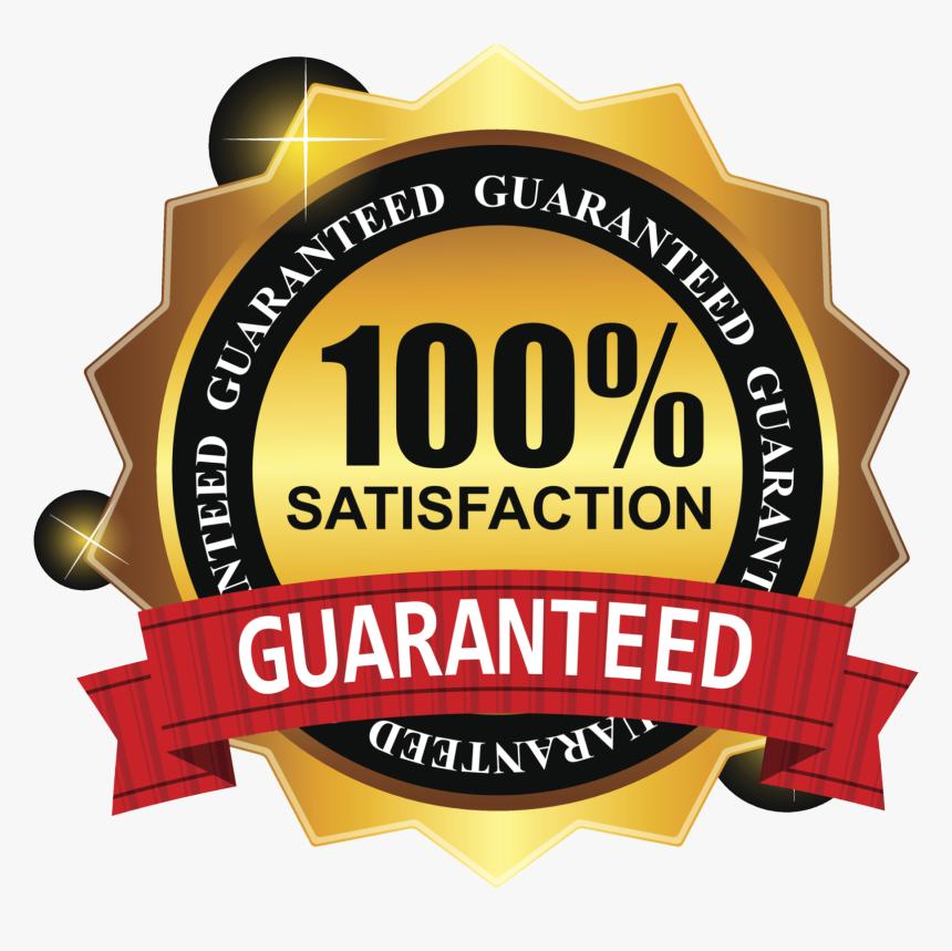 100 Satisfaction Guarantee Logo Png, Transparent Png