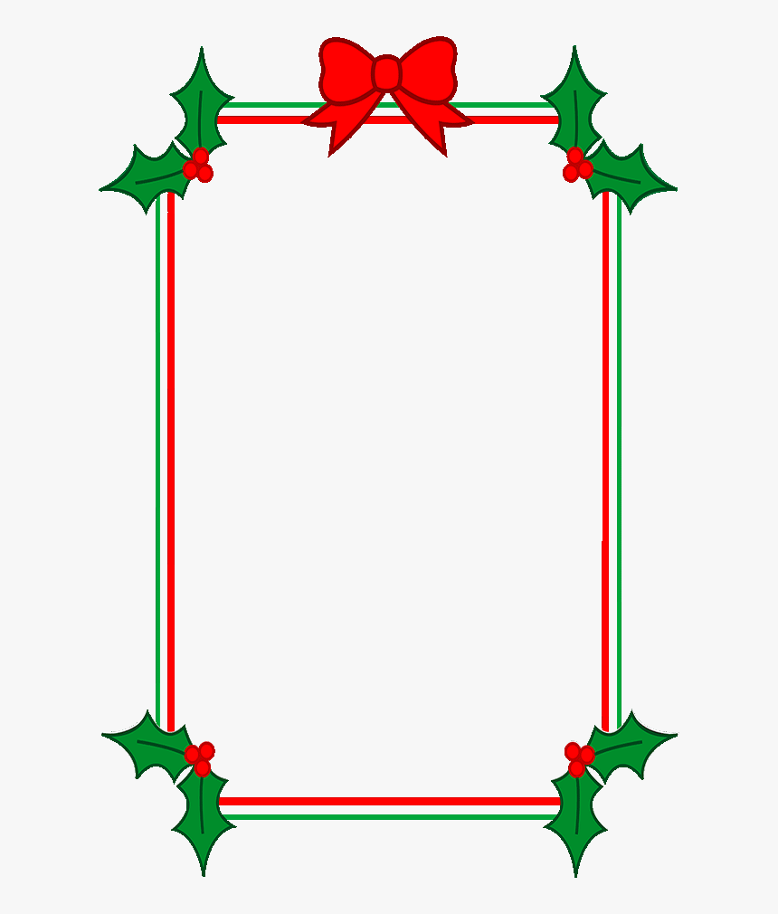 Download Holly Border Clipart - Christmas Border Template Word, HD Pertaining To Christmas Border Word Template