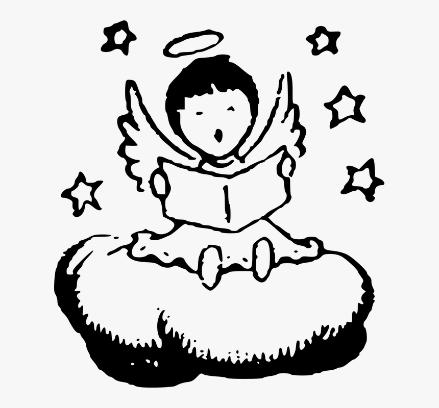 15 amazing Angel Clip Art Black pics on the Joom Art ⚙