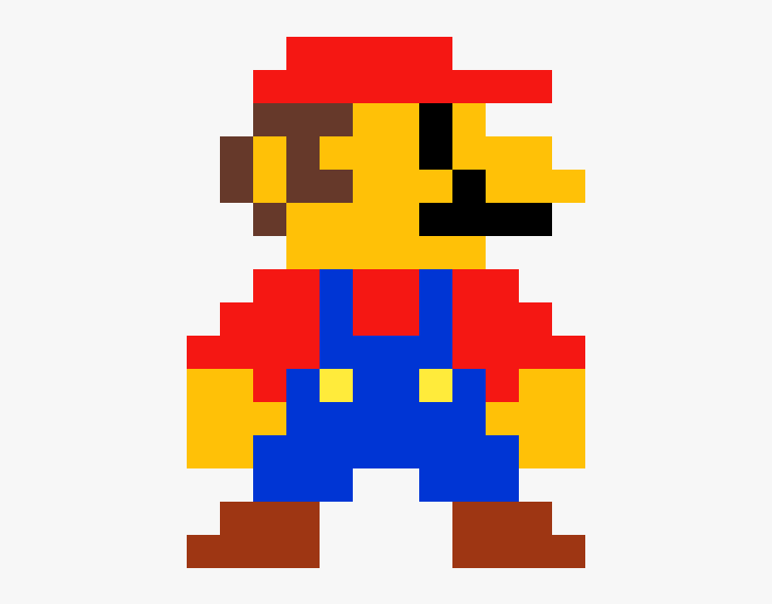 Mario Transparent Old School Pixel Art Mario Bros Hd Png