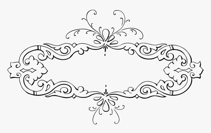 Leaf Ornament Floral Design Gambar Kaligrafi Hitam Putih Hd Png