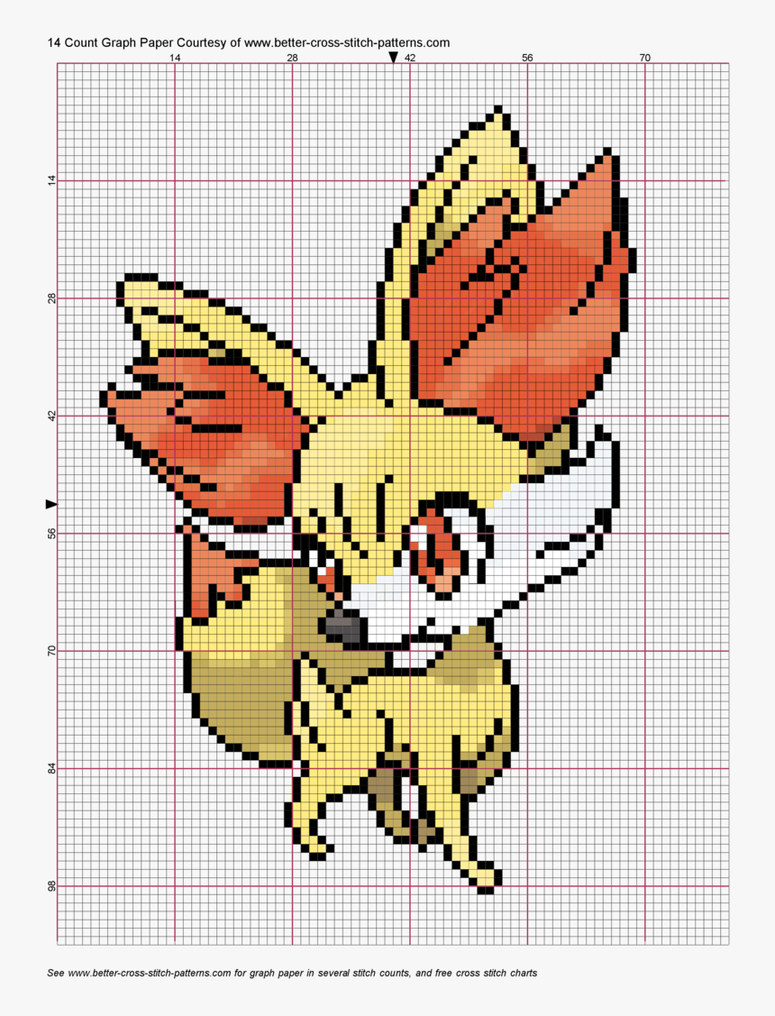 Pixel Art Pokemon Fennekin Hd Png Download Transparent