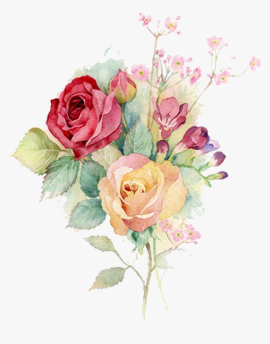 Bouquet Vector Rose Watercolor Flower Bouquet Watercolor