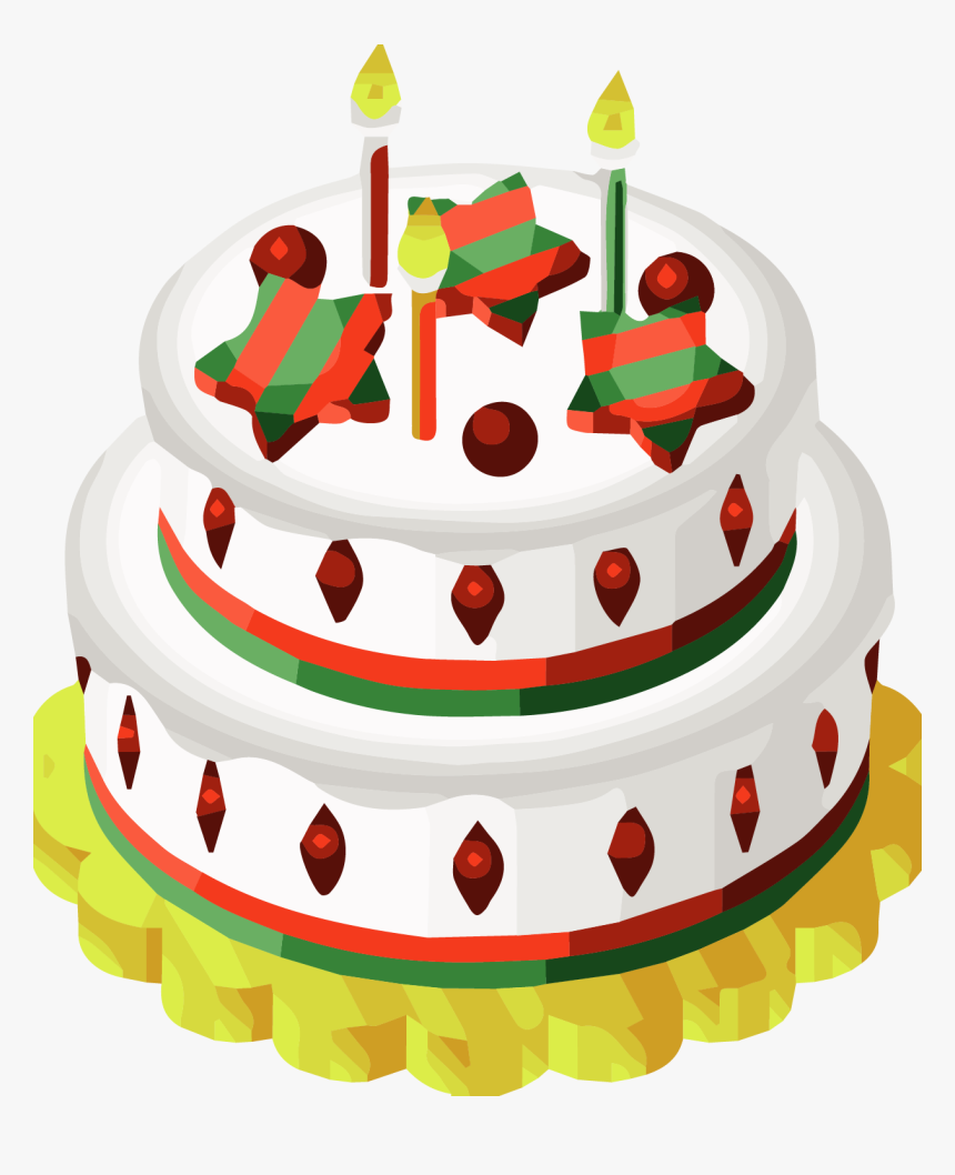 Transparent Minecraft Cake Png Christmas Cake Clip Art Png