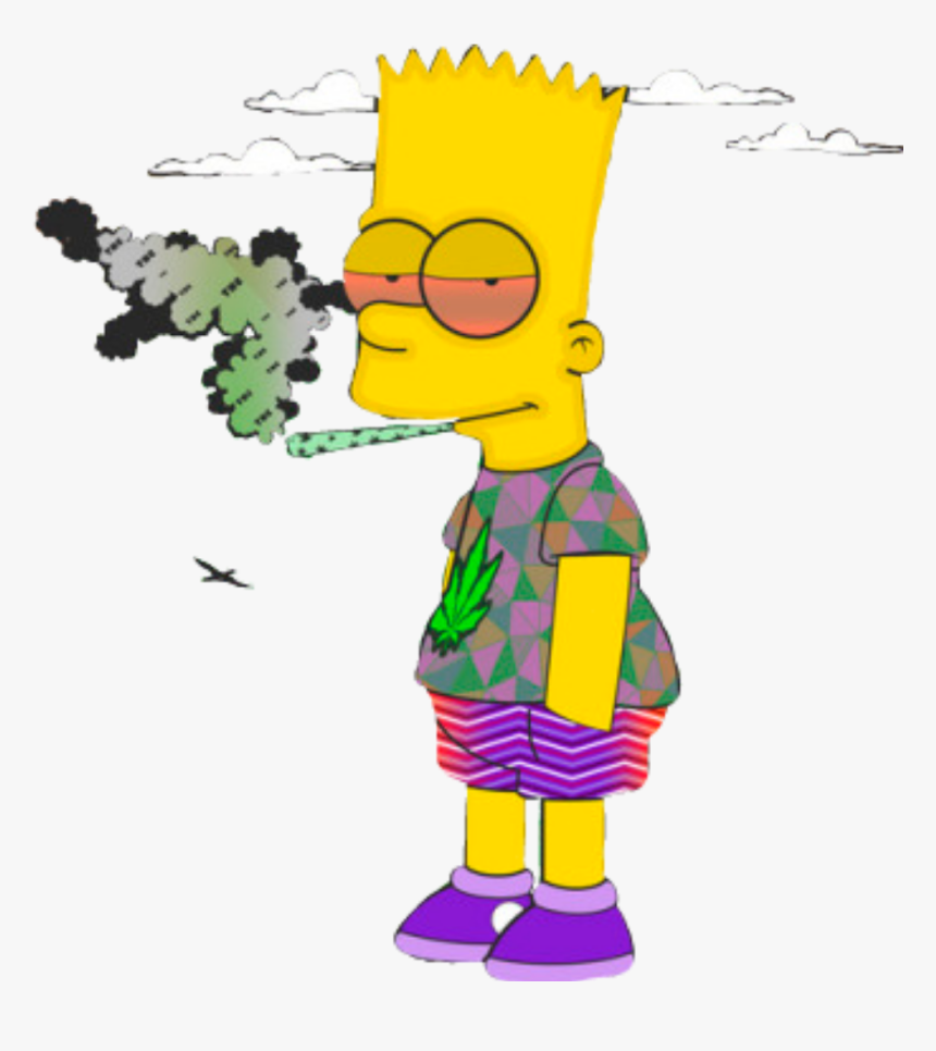 Homero Simpson Png Homer Simpson Supreme Smoking Weed Cartoon