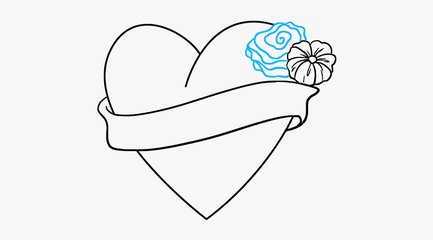 Love Drawing Easy And How To Draw An Love Heart Easy Drawings Hd Png Download Transparent Png Image Pngitem