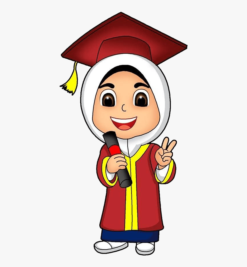 Gambar Toga Wisuda Kartun Anak Muslim Png Download Muslim Graduation Cartoon Transparent Png Transparent Png Image Pngitem