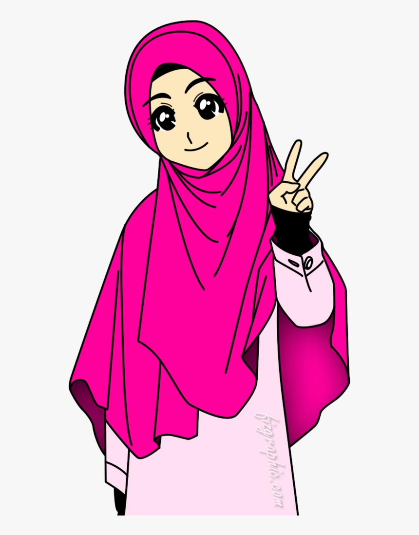 Transparent Islam Clipart Perempuan Muslimah Animasi HD