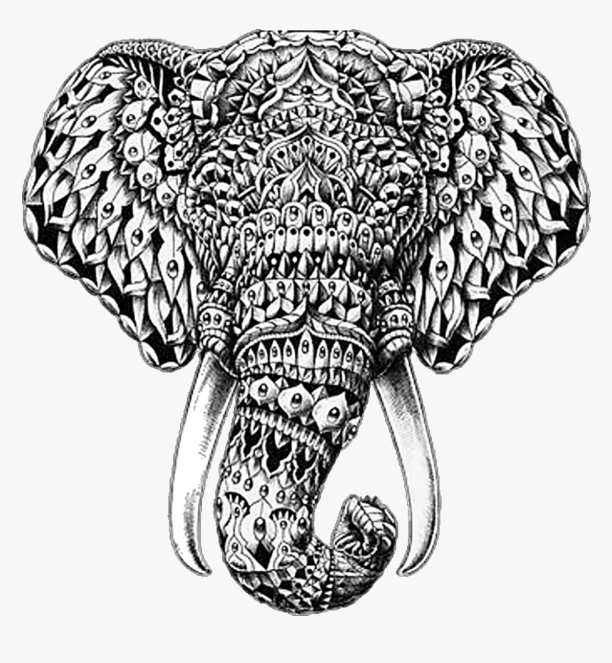 Elephant Black And White Mandala Hd Png Download Transparent Png Image Pngitem Black and white republican elephant. elephant black and white mandala hd