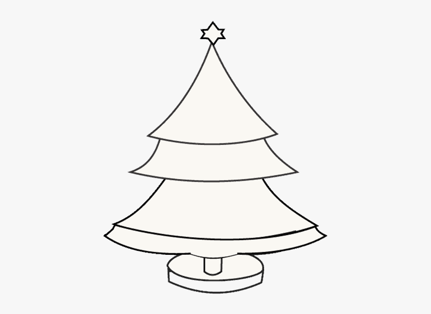 White Christmas Tree Drawing