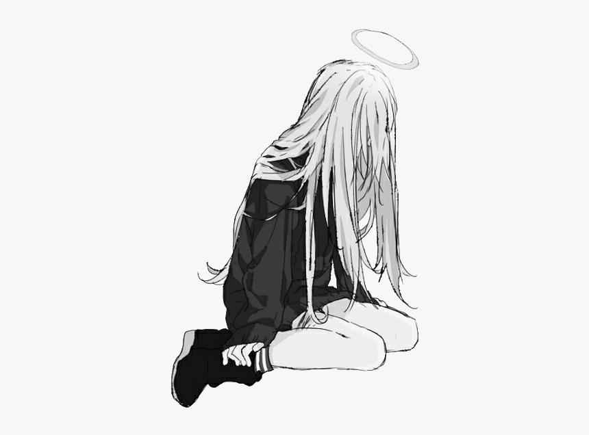 Sad Anime Png Alone Manga Transparent Png Transparent Png Image Pngitem