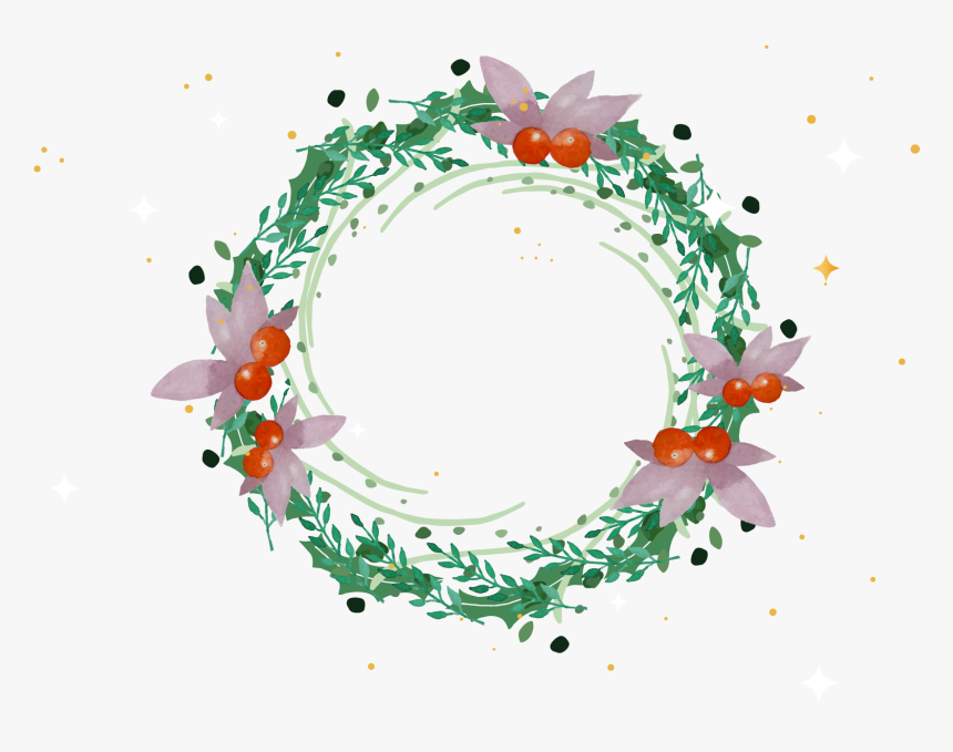 Christmas Wreath Clipart Circle Christmas Wreath Drawing Hd Png Download Transparent Png Image Pngitem