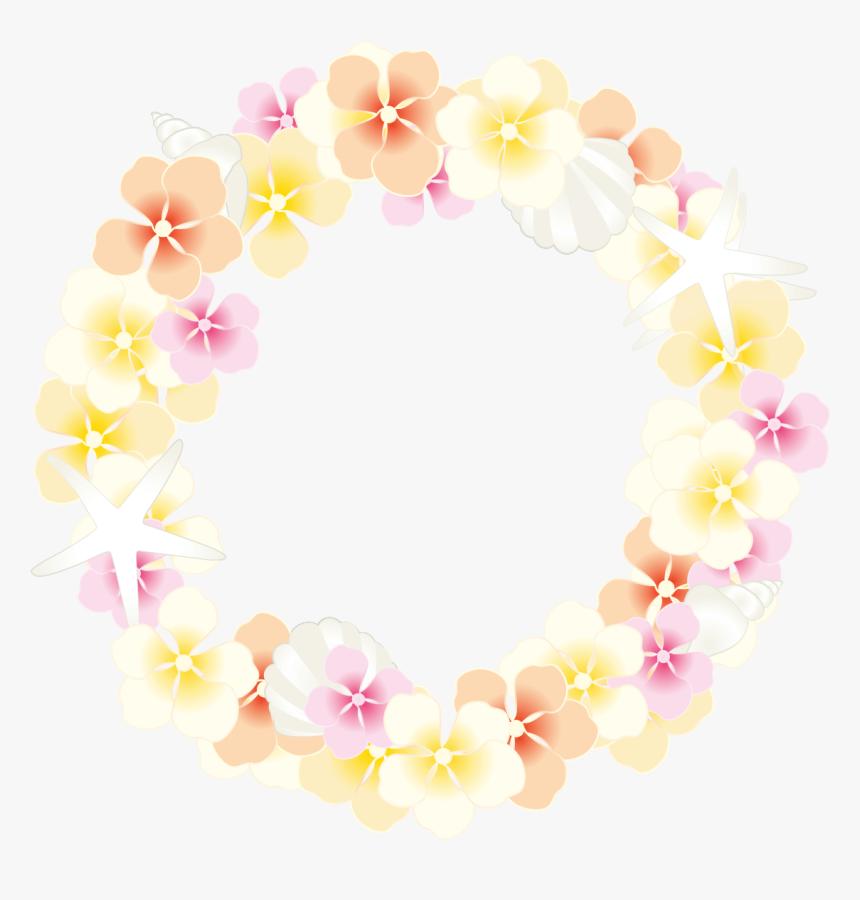 夏のフラワーリース 無料イラスト愛 花 リース イラスト 無料